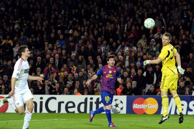 Champions league fc barcelona 7 bayer leverkusen 1 bar 231 a win 10 2