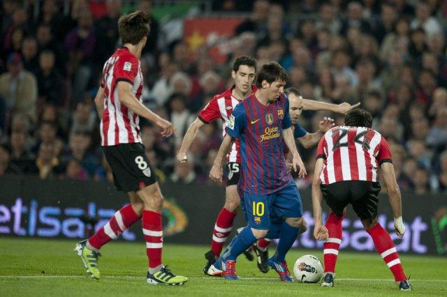 barcelona 2-0 athletic bilbao messi