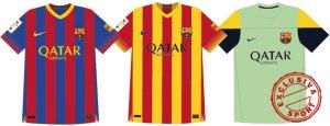 barça 2013 2014 kit home away third shirts