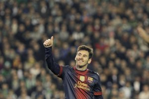 betis 1-2 barcelona messi 86 goal record