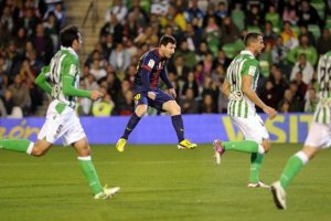 betis 1-2 barcelona messi goal record