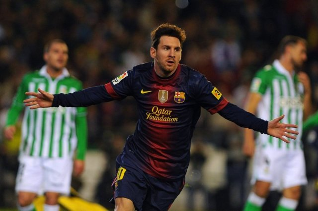 betis 1-2 barcelona messi record 86 goals in 2012