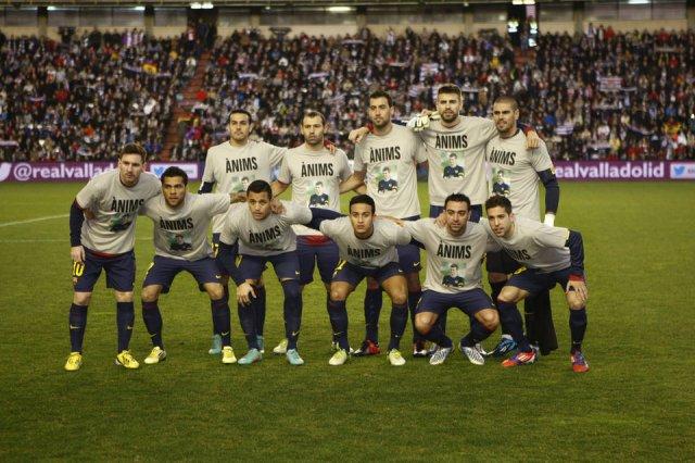 valladolid 1-3 barcelona team photo
