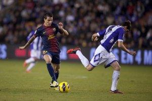 valladolid 1-3 barcelona tello goal