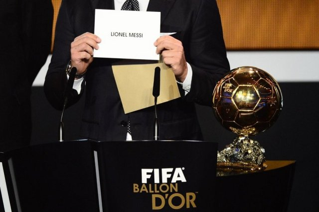 And the winner is Leo Messi Fifa Ballon d'Or 2012