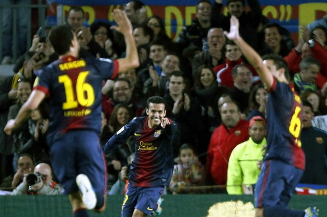 barça 4-0 espanyol pedro goal celebration 3-0