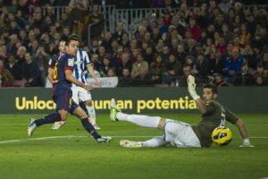 barça 4-0 espanyol xavi goal 1-0