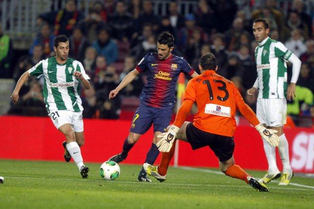 barça 5-0 cordoba villa goal