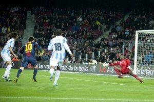barcelona 2-2 malaga messi goal