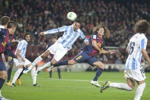 barcelona 2-2 malaga puyol goal