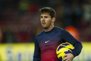 Barcelona 5-1 Osasuna four goal Messi match ball