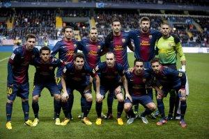 malaga 1-3 barcelona barça team photo 2013