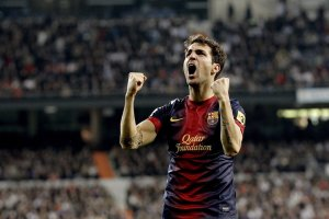 real madrid 1-1 barcelona fabregas goal celebration