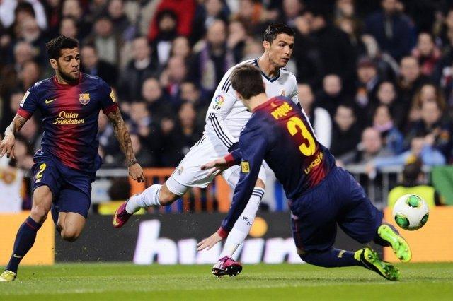 real madrid 1-1 barcelona piqué ronaldo