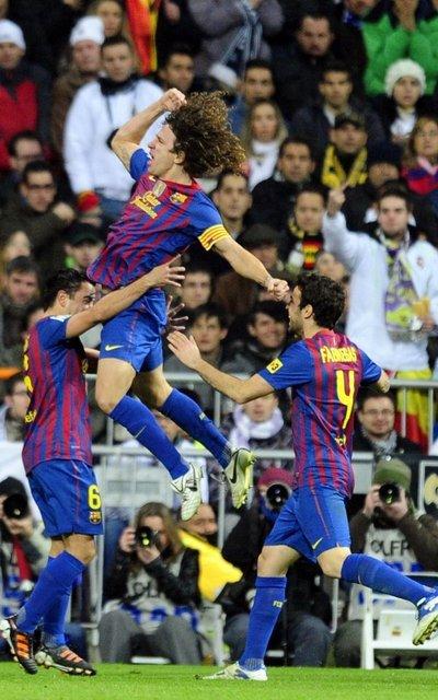 real madrid 1-2 barça puyol goal