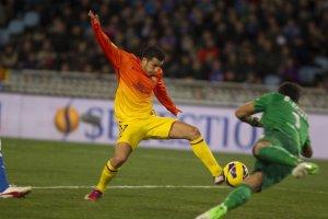 real sociedad 3-2 barcelona pedro goal 0-2