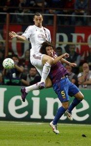 ac milan 0-0 barcelona puyol ibrahimovic