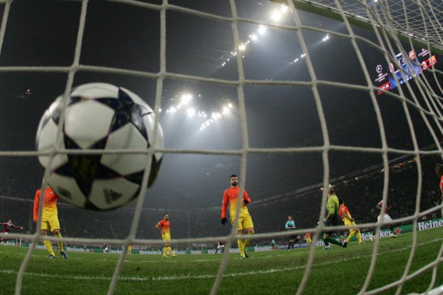 ac milan 2-0 barcelona goal muntari