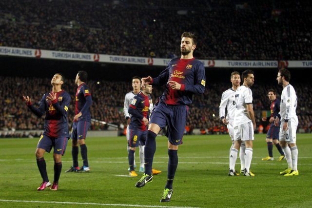 barcelona 1-3 real madrid pique 2013