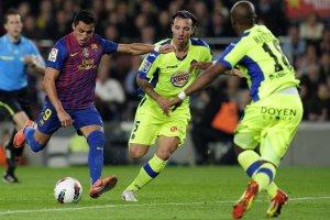 barcelona 4-0 getafe alexis goal