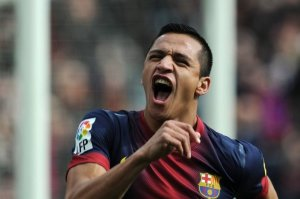 barcelona 6-1 getafe alexis goal celebration