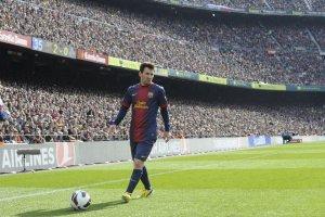 barcelona 6-1 getafe messi corner