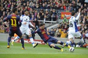 barcelona 6-1 getafe messi goal