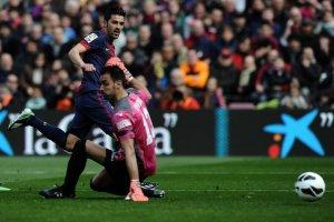 barcelona 6-1 getafe villa goal