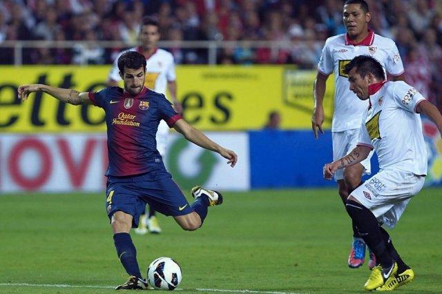 sevilla 2-3 barcelona cesc goal