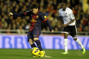 valencia 1-1 barça messi penalty