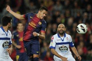 barcelona 2-0 deportivo goal alexis