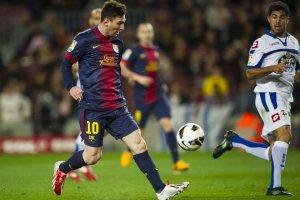 barcelona 2-0 deportivo goal messi