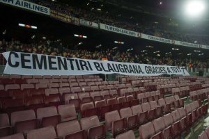 barcelona 2-0 deportivo south stand protest