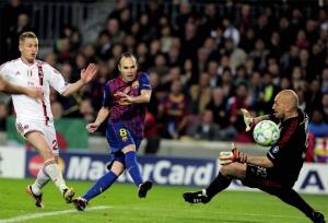 barcelona 3-1 milan iniesta goal