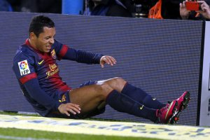 barcelona 3-1 rayo adriano injury 2013