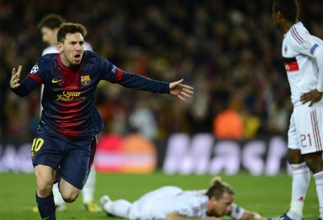 barcelona 4-0 ac milan messi celebration