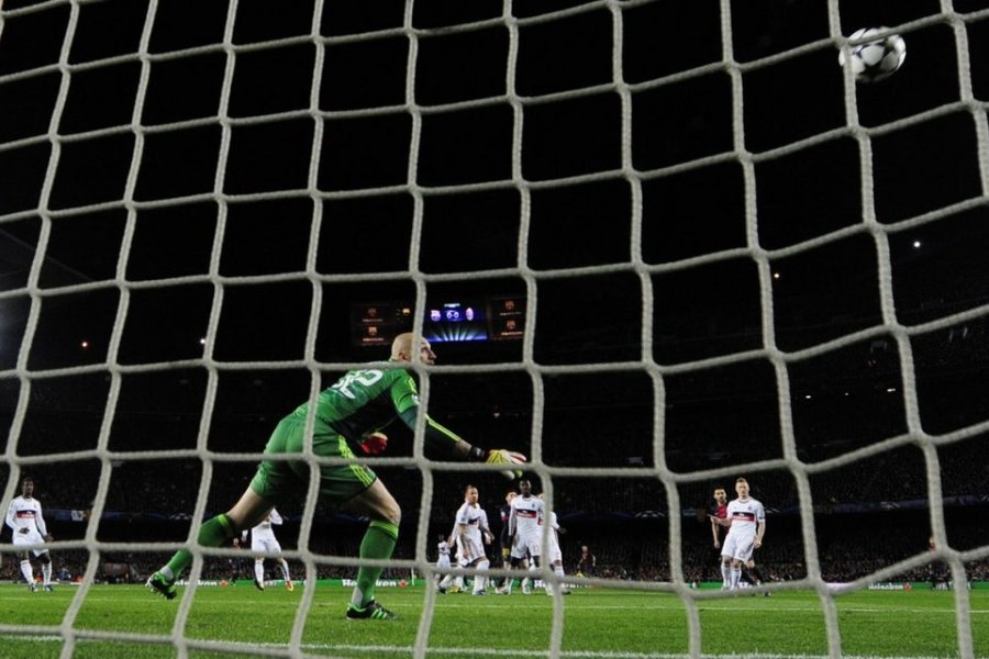 barcelona 4-0 ac milan messi first goal
