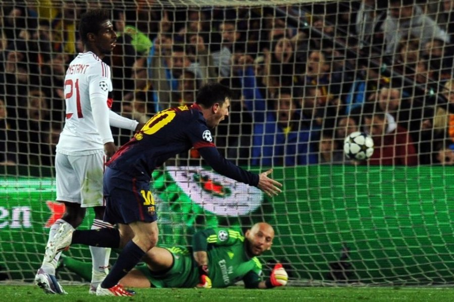 barcelona 4-0 ac milan messi second goal