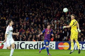 barcelona 7-1 bayer leverkusen messi goal