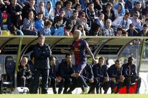 celta 2-2 barcelona barça bench eric abidal 2013