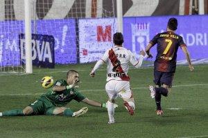 rayo 0-5 barcelona villa goal