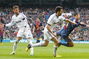 real madrid 2-1 barcelona adriano penalty sergio ramos