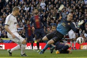 real madrid 2-1 barcelona benzema goal