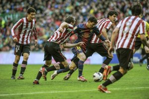 athletic 2-2 barcelona leo messi 2013