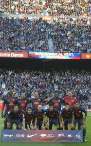 barcelona 1-0 levante team photo april 2013