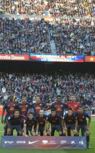 barcelona 1-0 levante team photo april 2013