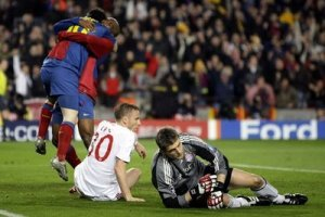 barcelona 4-0 bayern munich 2009 messi eto'o celebrate