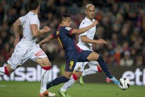 barcelona 5-0 mallorca alexis scores fourth goal 2013