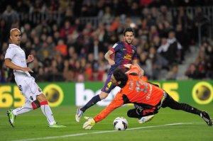 barcelona 5-0 mallorca cesc fabregas scores goal 2013