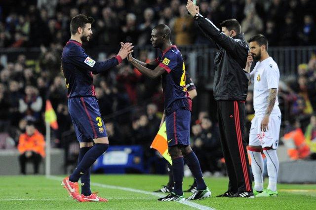 barcelona 5-0 mallorca Eric Abidal substitutes Gerard Piqué 2013
